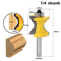 New 1PC 1/4 Shank Bullnose Bead Column Face Molding Router Bit For Woodworking Tools