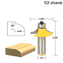 1pc Drawer & Cabinet Door Front Edging Thumbnail Router Bit-1/2  Shank 12mm shank woodworking cutter woodworking bits