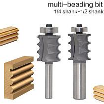 1PC 1/4  1/2 Shank High Quality Triple Bead/ Column Molding Router Bit