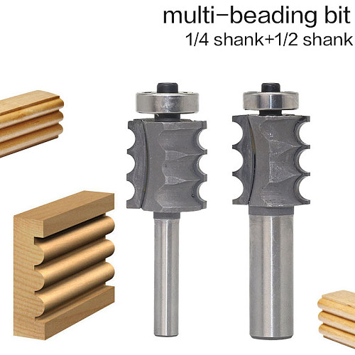 1PC 1/4  1/2 Shank High Quality Triple Bead/ Column Molding Router Bit