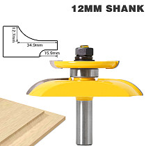 12 Shanks Round Over Rail & Stile with Cove Panel Raiser 1Bit Router Bit Set Tenon Cutter for Woodworking Tools