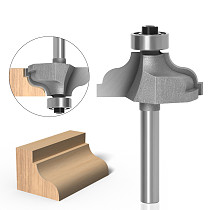 1PC 1/4  Shank Ogee Edging wood router bit Straight end mill trimmer cleaning flush trim corne
