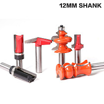 12'' Shank Bullnose Bead Column Face Molding Router Bit For Woodworking Tools
