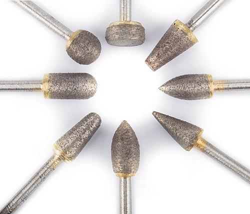 1pc 3mm shank 70mesh Emery grinding head For Dremel for Cleaning pipes Grinding Dremel for carving