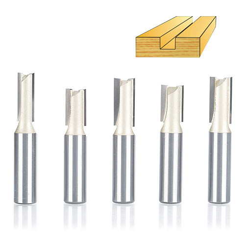 1pcs 1/2 Shank 2 flute straight bit Woodworking Tools Router Bits for Wood Tungsten Carbide endmill milling cutter