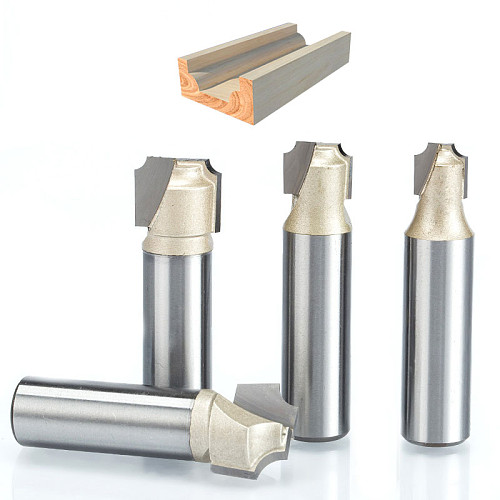 1pcs 1/2  Shank Double Edging Router Bits for wood flat bottom cutter Tungsten Carbide Woodworking tools milling cutter