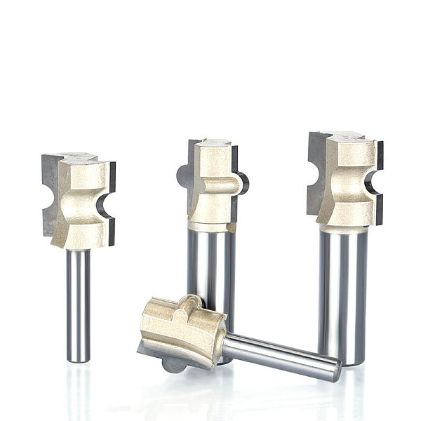 1pc 1/2  Shank Router Bits For Wood  Woodworking Tool Semicircle Mortise  Stitching Knife Floor T - mortis CNC Cutter