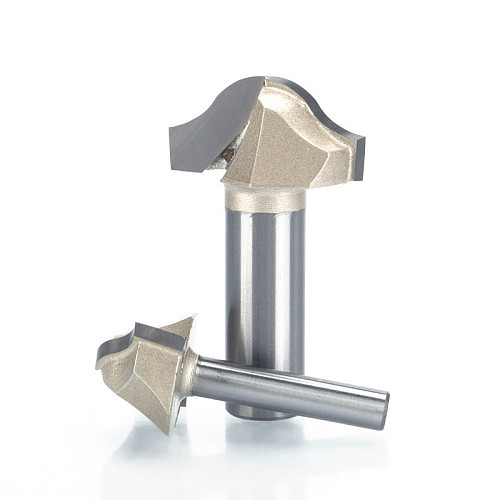 HUHAO 1pc Trim router bit 1/2  1/4  Shank Woodworking Tools Trimming Cutters woodworking tool endmill milling cutter