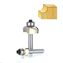 1pcs 1/4  1/2  Shank Classical Cove bit with bearing Woodworking Tool 2 flute router bits for wood endmill milling cutter