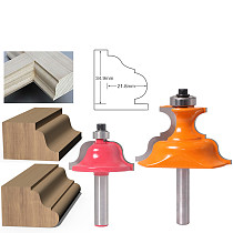 2pc 8mm Shank Wainscoting Roman Ogee & Pedestal Router Bit C3 Carbide Tipped Wood Cutting Tool woodworking router bits