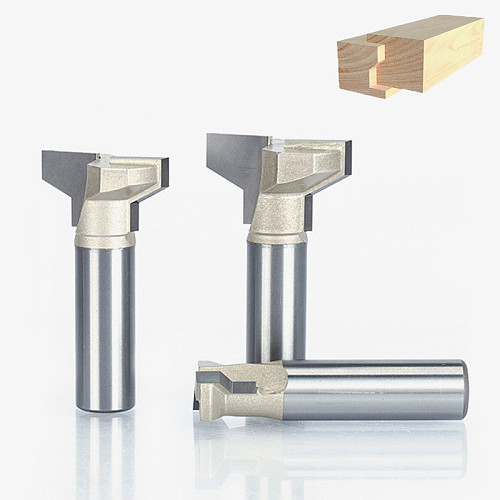 1pc 1/4  1/2  Shank Woodworking Cutter Engraving  Edge Trimmer Router Bit  Drawer Knife T Type Cutter For Wood