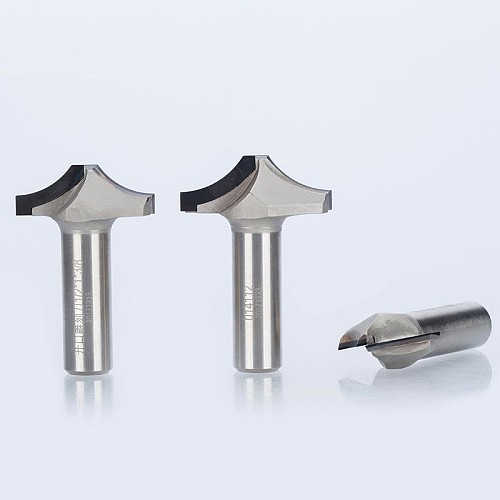 1pc 1/2  Shank Diamond CVD Coating Round Chisel Endmill Woodworking Cutter PCD Arc Line Cabinet Door Router Bit