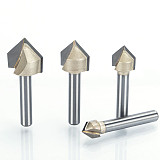V Type slotting cutter Professional Router Bits , wood 90 Deg  Tungsten Woodworking Carving Tool