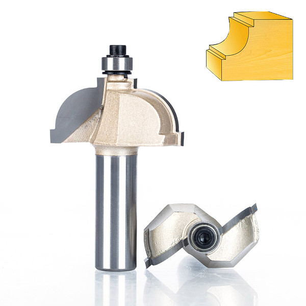 1pc 1/2  Shank Router Bits For Wood Drawing Line Bit With Bearing Woodworking Tools Two Flute Endmill Milling Cutter