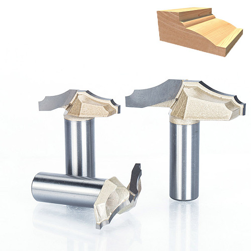 1pc 1/2  1/4  Shank Trimmer Router Bits For Wood Tungsten Carbide Woodworking Engraving Endmill Tools For Hard Wood MDF