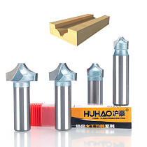 HUHAO 1pcs 1/2  1/4  Shank engraving bit cutting the wood Industrial Grade router tool router bits for wood woodworking tool
