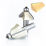 Chamfer Cutter Router Bits , wood Horse Nose Bit ,45 Deg CNC Woodworking Tools two Flute endmill