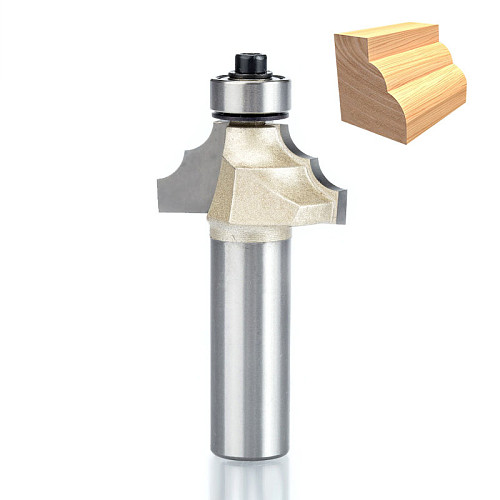 1pcs 1/2  1/4  Shank Double Edging Router Bits for wood classical mounlding bit Tungsten Carbide Woodworking endmill tools