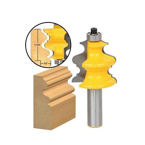 5PCS/SET DIY Bookshelf Molding & Edge Banding Woodworking Tools Router Bit Table Edge Bit CNC Door Knife Wood Processing