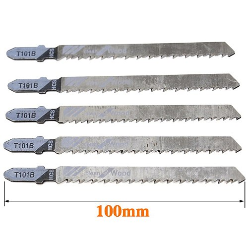 5Pcs/lot 60mm-82mm HCS-T101B Jig Saw Blades for for Resin Hard and Soft Wood Laminated Board Rtc.