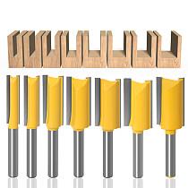 JGZUI 1pc 1/4 Shank Straight Bit Tungsten Carbide Single Double Flute Router Bit Wood Milling Cutter for Woodwork