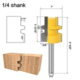 Glue Joint Router Bit - Medium Reversible - 1/4 6mm Shank - Woodworking cutter Tenon Cutter for Woodworking Tools