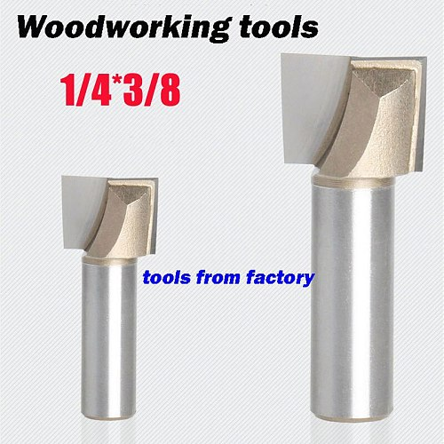 1pc wooden router bits 1/4*3/8 CNC woodworking milling cutter woodwork carving tool