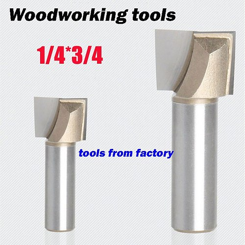 1pc wooden router bits 1/4*3/4 CNC woodworking milling cutter woodwork carving tool