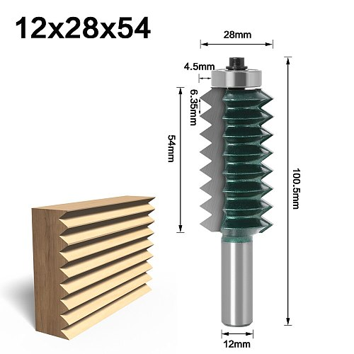 12 Shank Raised panel V joint Bits Finger Joint Glue Milling Cutter for Wood Tenon Woodwork Cone Tenon Milling Tenoning Machine