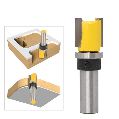 1pc Pattern Trim Template Trim Router Bit - 3/4  X 3/4  - 1/2  Shank Woodworking cutter Tenon Cutter for Woodworking Tools