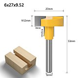 1-4 pcs Top Quality T-Slot & T-Track Slotting Router Bit - 8  6mm Shank For Woodworking Chisel Cutter Wholesale Price