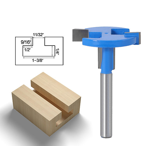 1pcs Top Quality T-Slot & T-Track Slotting Router Bit - 1/4 6mmShank For Woodworking Chisel Cutter Wholesale Price