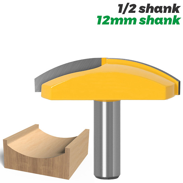1pc 1/2  Shank 12mm shank Large Bowl Router Bit - 2.7  Radius - 2-3/4  Wide For Woodworking Cutting Tool