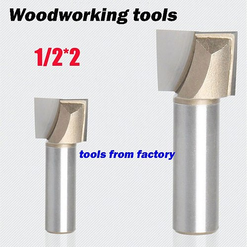 1pc wooden router bits 1/2*2 CNC woodworking milling cutter woodwork carving tool