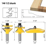 Rail & Stile Ogee Blade Cutter ,Panel Raised Cabinet Router Bit Set, Door Tenon Woodworking Tools