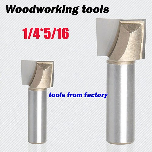 1pc wooden router bits 1/4*5/16 CNC woodworking milling cutter woodwork carving tool 1/4 SHK