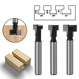 1pc 1/4  Shank 6mm T-Slot Cutter Router Bit Set Hex Bolt Key Hole Bits T Slotting Milling Cutter for Wood Woodworking