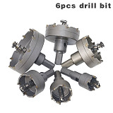 Carbide Tipped TCT Drill Bit Set ,Stainless Steel Alloy Hole Saw Cutter Tool
