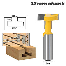 1pcs Top Quality T-Slot & T-Track Slotting Router Bit - 12mm Shank For Woodworking Chisel Cutter Wholesale Price