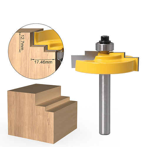 1PC8mm Shank 12mm shank Picture Frame Stepped Rabbet Molding Router Bit C3 Carbide Tipped Wood Cutting Tool woodworking