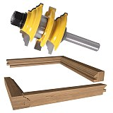 Rail & Stile Router Bit, Ogee Stacked Wood Cutting Tool, woodworking router bits