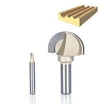 1pcs 1/2  1/4  Shank cove box bit Double Edging Router Bits for wood Tungsten Carbide Woodworking endmill miiling cutter