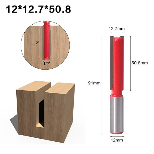 1 pc Straight/Dado Router Bit 1/2  Dia. X 2-1/2  Length - 12mm Shank Woodworking cutter Wood Cutting Tool