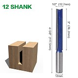 1 pc 1/2  ,12MM SHANK Extra long 3  Blade 1/2  Cutting Dia. Straight Router Bit Woodworking cutter Tenon Cutter for Woodworking