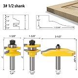3pcs 1/2  Shank Rail & Stile Ogee Blade Cutter Panel Raised Cabinet Router Bit Set Door Tenon Woodworking Tools