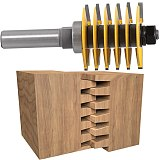 Brand New 2 Teeth Adjustable Finger Joint Router Bit ,Tenon Cutter Industrial Grade for Wood Tool
