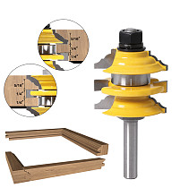 1 pcs 8mm  Shank Rail & Stile Router Bit Ogee Stacked Wood Cutting Tool woodworking router bits
