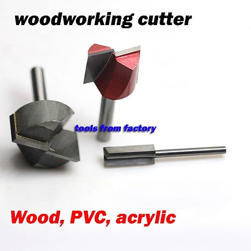 1pc 6*25 woodworking milling cutter cnc carving tools wood router bits