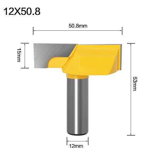 "1/2"" Inch 12mm Shank 2"" Bottom Cleaning Router Bit (Mortising Bit, Spoil board Surfacing, Slab Flattening Woodworking Mil"