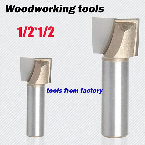 1pc wooden router bits 1/2*1/2 CNC woodworking milling cutter woodwork carving tool